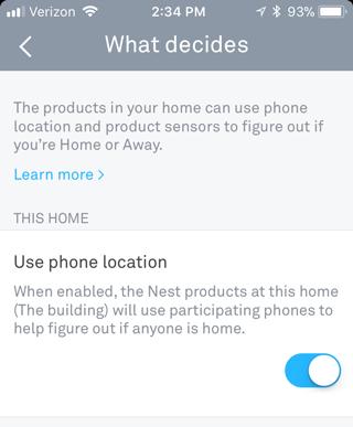 Aktifkan Home / Away Assist