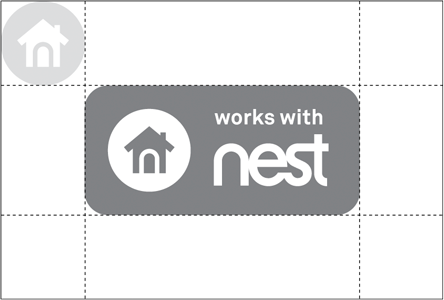 Works with Nest badge clear horiz
