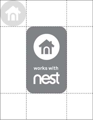Works with Nest badge clear vert